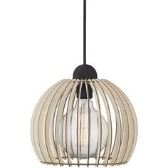 Lampa wisząca Chino 25 drewno
