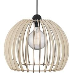 Skandynawska Lampa ze sklejki wisząca Chino 40 Nordlux do sypialni i przedpokoju.