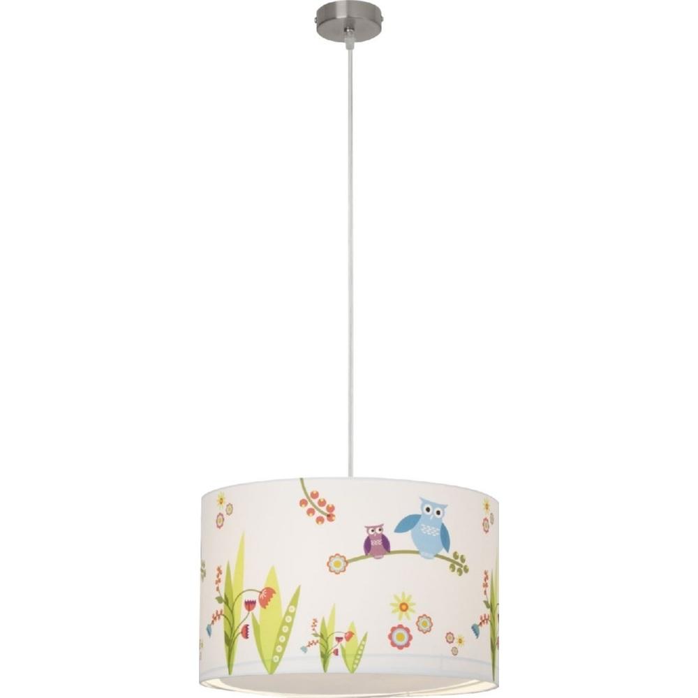 Lampa dziecięca wisząca Birds 40 Multikolorowa Brilliant do pokoju dziecięcego i młodzieżowego.