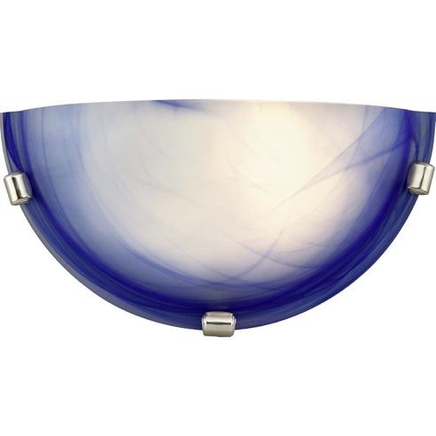 Kinkiet szklany antyczny Mauritius Niebieski Brilliant
