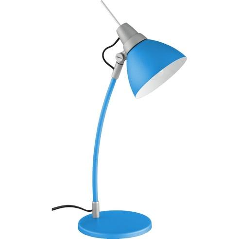 Lampa dziecięca biurkowa Jenny Niebieska Brilliant na biurko do pokoju dziecięcego i młodzieżowego.
