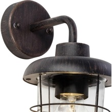 Kinkiet zewnętrzny latarnia Carlisle Rdzawy Brilliant na taras, elewacje i nad drzwi.