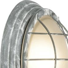 Plafon zewnętrzny okrągły Olena 28 Betonowy Szary Brilliant na taras.
