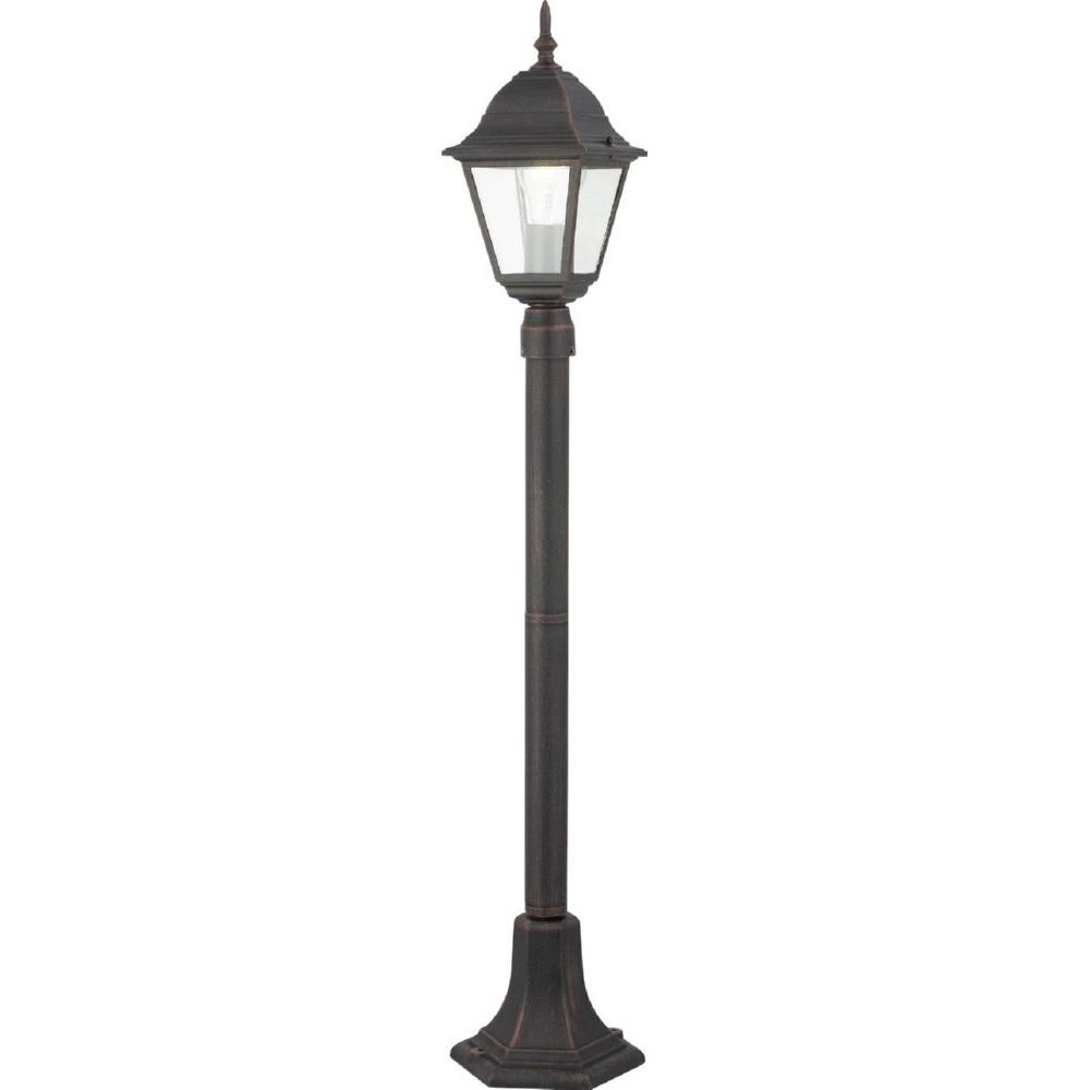 Lampa zewnętrzna stojąca retro Newport Rdzawa Brilliant przed dom i podjazd.