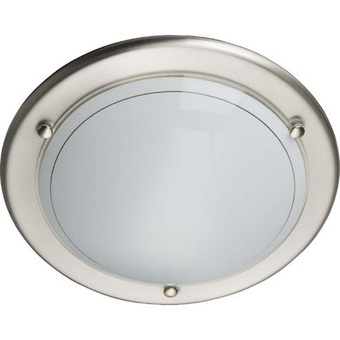 Stylowy Plafon szklany okrągły Miramar 31 Satynowy Chrom Brilliant do kuchni, salonu i sypialni.