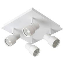 Reflektor sufitowy nowoczesny Sirene IV Led Biały Lucide do kuchni, przedpokoju i sypialni.