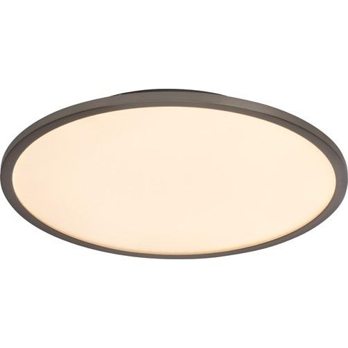 Nowoczesny Plafon sufitowy okrągły Ceres 45 Ściemniany Led Chrom Brilliant do kuchni, przedpokoju i salonu.