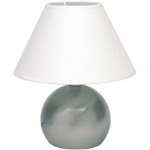 Lampa stołowa z abażurem Tarifa Satynowy Chrom/Biała Brilliant do salonu i sypialni.