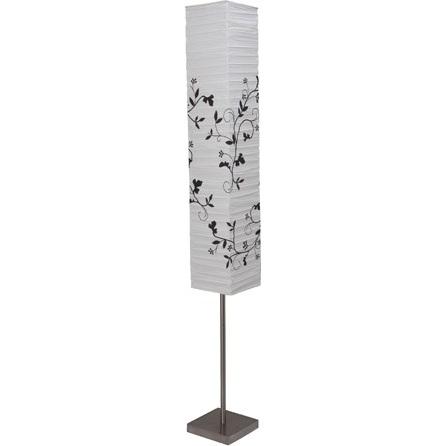 Lampa stojąca Nerva satynowy chrom/biała/szara