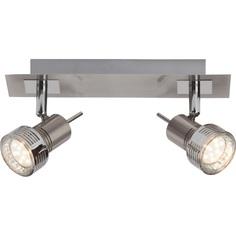 Plafon sufitowy Kassandra LED satynowy chrom/chrom