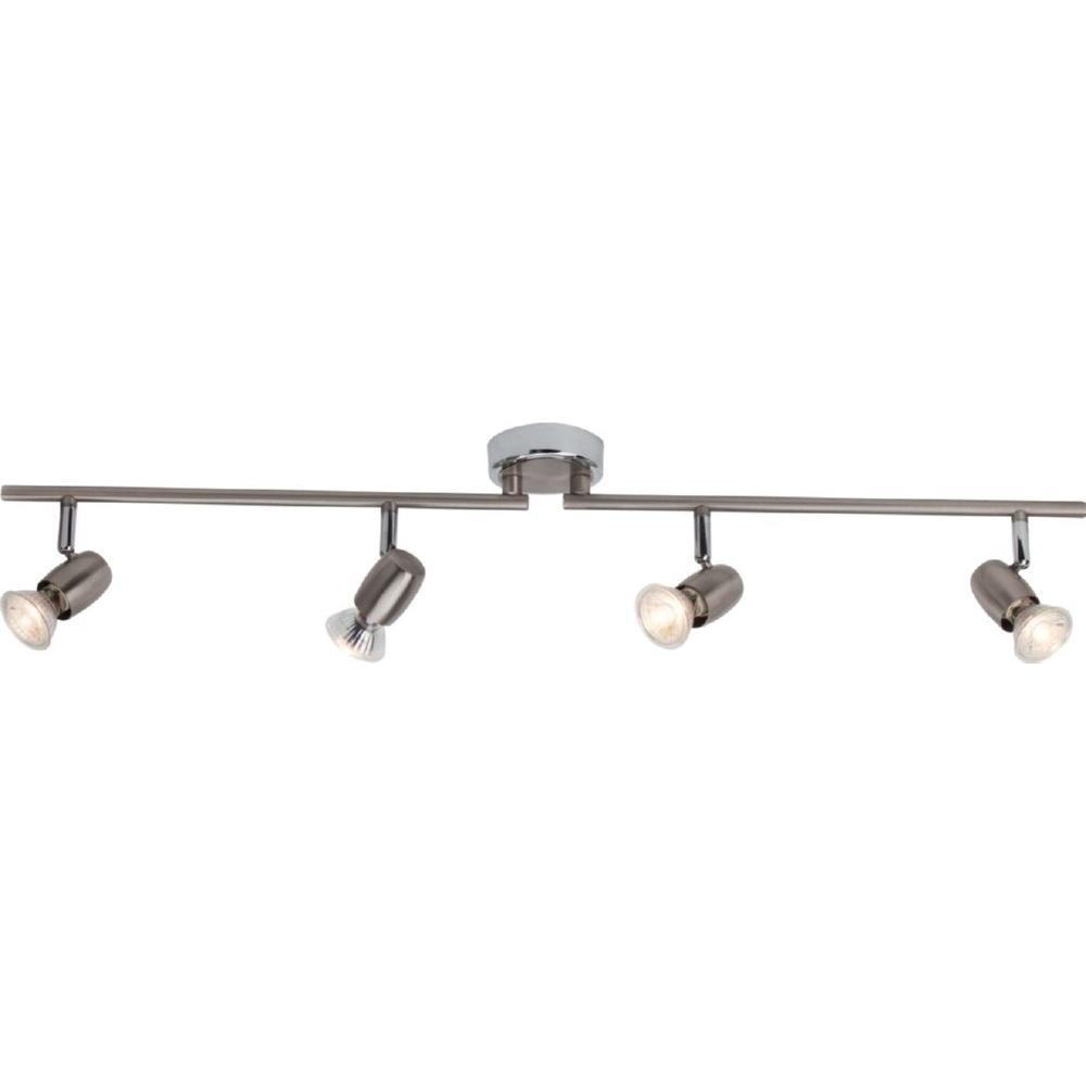 Plafon sufitowy Wesley LED satynowy chrom/chrom