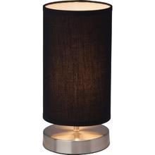 Lampa stołowa z abażurem Clarie 12 Satynowy Chrom/Czarna Brilliant do salonu i sypialni.