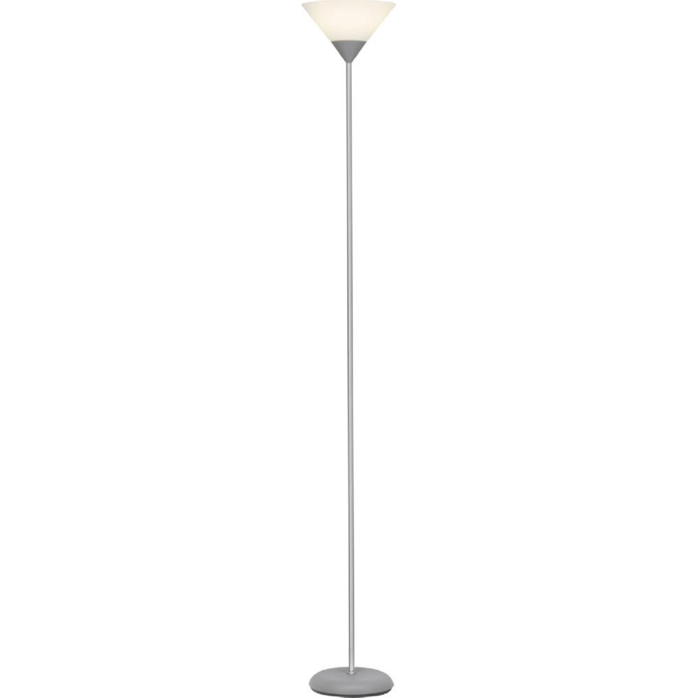 Stylizowana Lampa podłogowa szklana antyczna Spari Led Srebrna/Biała Brilliant do hotelu i restauracji.
