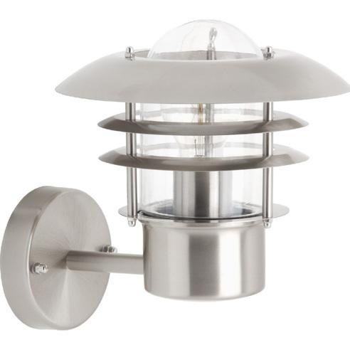 Kinkiet zewnętrzny latarnia Terrence Stal Brilliant na taras, elewacje i nad drzwi.