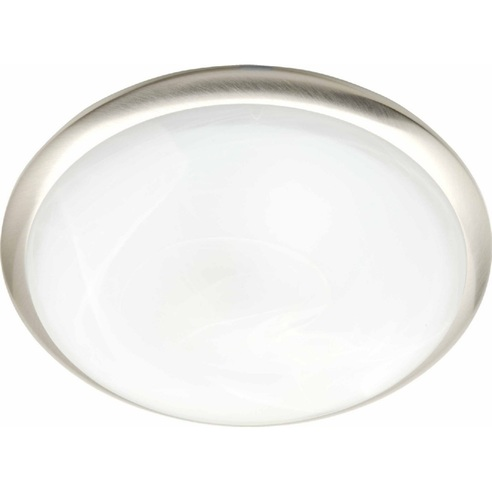 Stylowy Plafon szklany okrągły Tunis Stal Brilliant do kuchni, salonu i sypialni.