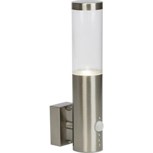 Zewnętrzny kinkiet ścienny z sensorem Bergen LED stal