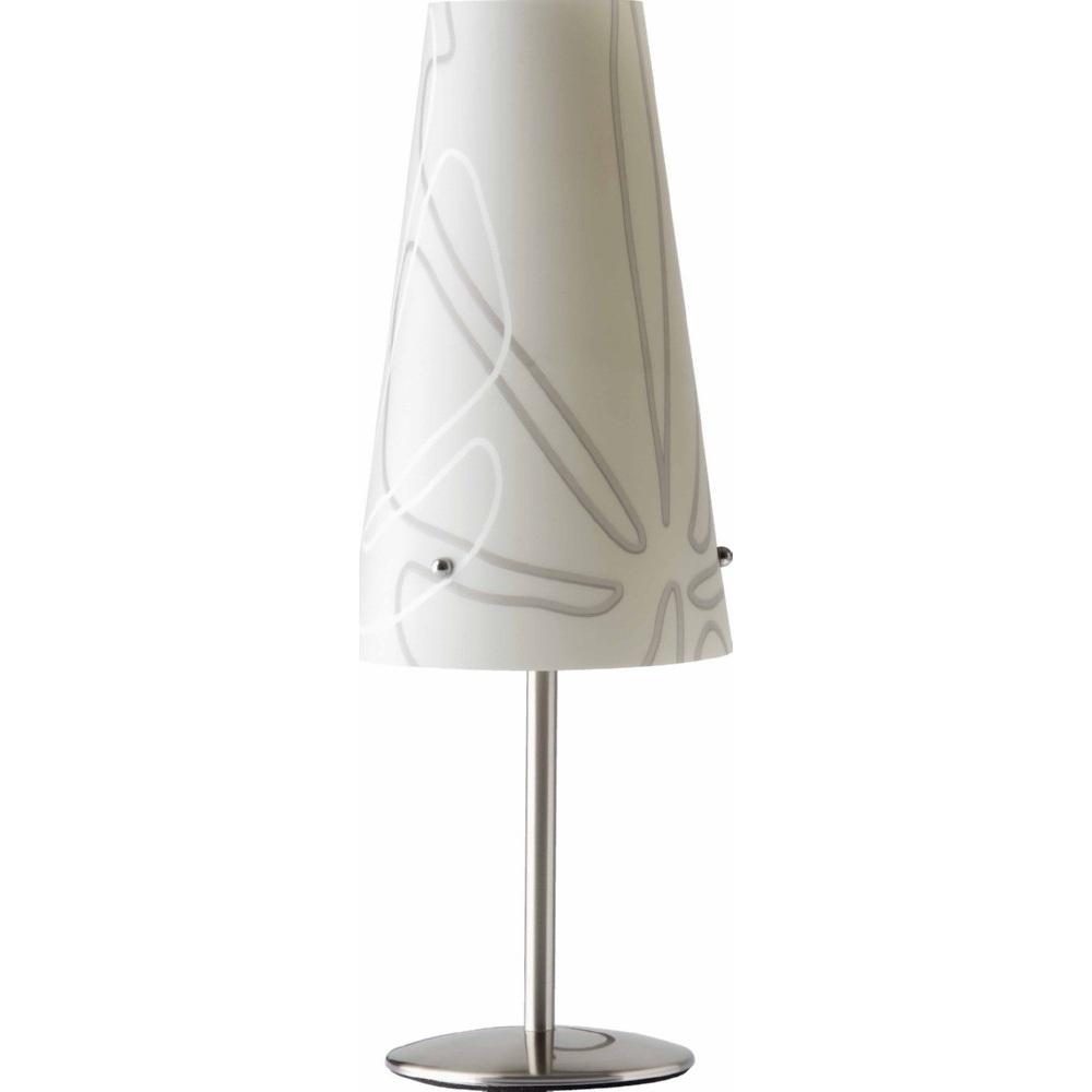 Lampa stołowa klasyczna Isi Szara Brilliant do salonu i sypialni.