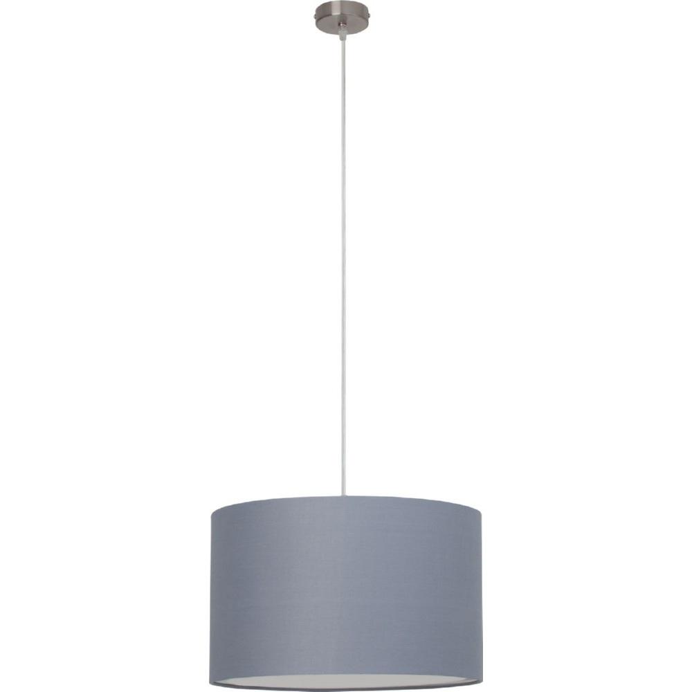 Stylowa Lampa wisząca okrągła z abażurem Clarie 40 Szara Brilliant do salonu i sypialni.