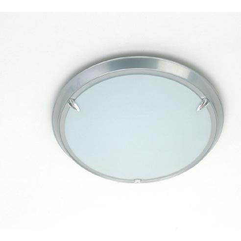 Stylowy Plafon szklany okrągły Livorno 29 Tytanowy Brilliant do kuchni, salonu i sypialni.