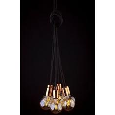 Lampa wisząca CABLE  VII czarna + miedź