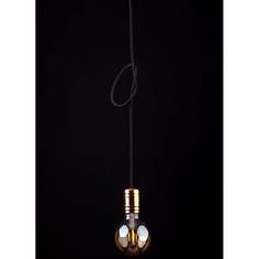 Lampa wisząca CABLE  I czarna + miedź