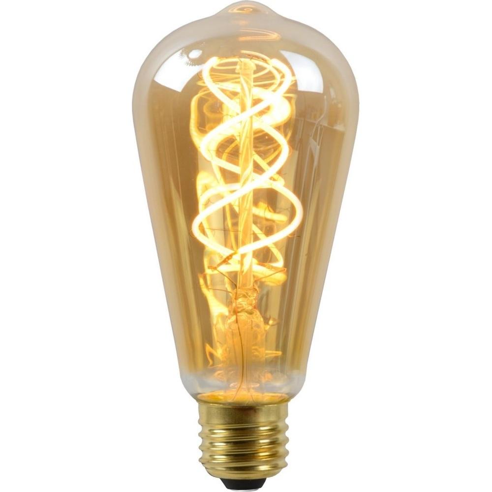 Żarówka  LED ST64  bursztynowa