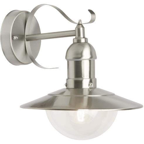 Kinkiet zewnętrzny latarnia Arto Satynowy Chrom Brilliant na taras, elewacje i nad drzwi.