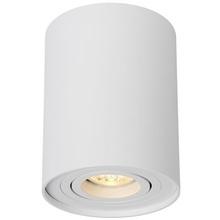 Nowoczesna, punktowa Lampa Spot tuba Tube 9 Okrągły Biały Lucide do kuchni i przedpokoju.