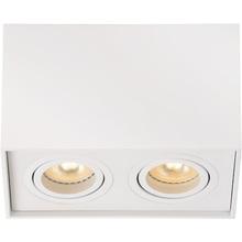 Nowoczesna, punktowa Lampa Spot podwójna Tube II Biały Lucide do kuchni i przedpokoju.