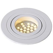 """Nowoczesna, punktowa Lampa Spot """"oczko"""" Tube 9 Okrągły Biały Lucide do kuchni i przedpokoju."""