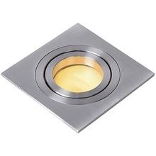 Nowoczesna, punktowa Lampa Spot Tube 9 Kwadratowy Satynowy Chrom Lucide do kuchni i przedpokoju.