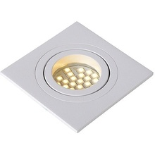 Nowoczesna, punktowa Lampa Spot Tube 9 Kwadratowy Biały Lucide do kuchni i przedpokoju.