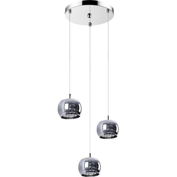 Lampa wisząca CRYSTAL  34 cm 3xG9 chrom