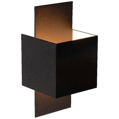 Kinkiet ścienny dekoracyjny Cubo Czarny Lucide do salonu, sypialni i przedpokoju.