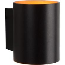 Kinkiet ścienny minimalistyczny Xera Okrągły Czarny Lucide do sypialni, salonu i przedpokoju.