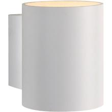 Kinkiet ścienny minimalistyczny Xera Okrągły Biały Lucide do sypialni, salonu i przedpokoju.