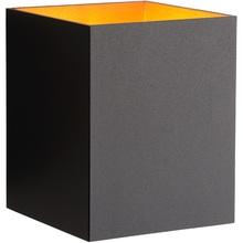 Kinkiet ścienny minimalistyczny Xera Kwadratowy Czarny Lucide do sypialni, salonu i przedpokoju.