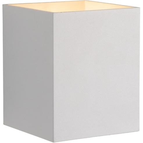 Kinkiet minimalistyczny Xera Kwadratowy Biały Lucide do sypialni, salonu i przedpokoju.