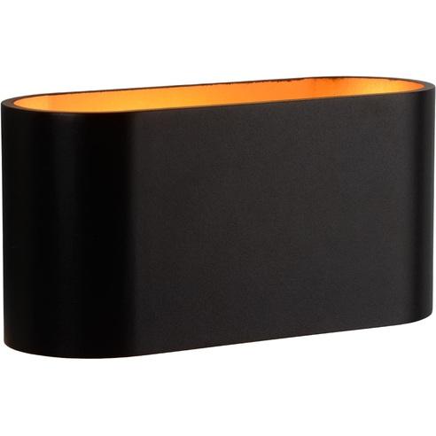 Kinkiet minimalistyczny Xera Złoty Lucide do sypialni, salonu i przedpokoju.