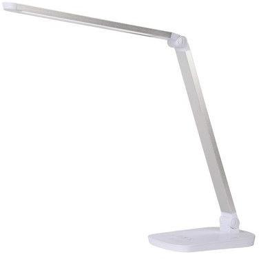 Lampa biurkowa minimalistyczna Vario Led Biała Lucide do gabinetu i pracowni.