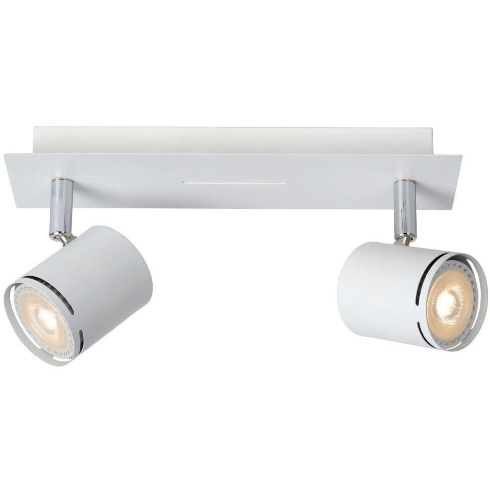Reflektor sufitowy nowoczesny Rilou II Led Biały Lucide do kuchni, przedpokoju i sypialni.