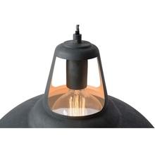 Lampa wisząca industrialna Markit 35 Szara Lucide do sypialni, salonu i kuchni.