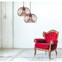 Dekoracyjna Lampa miedziana wisząca Vinti 30 Lucide do salonu, sypialni i poczekalni.