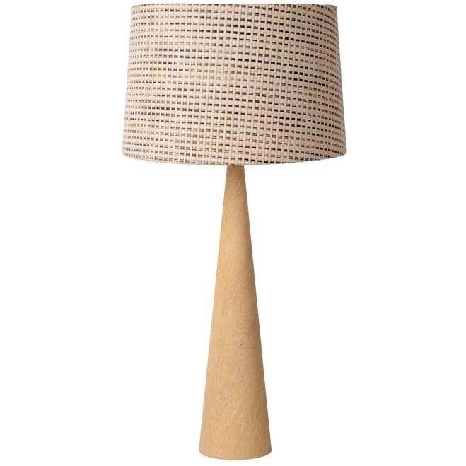 Skandynawska Lampa stołowa z abażurem Conos 35 Jasny Beż Lucide salonu i sypialni.