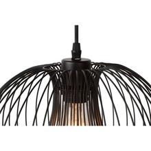 Dekoracyjna Lampa wisząca druciana Vinti 30 Czarna Lucide do salonu, sypialni i poczekalni.