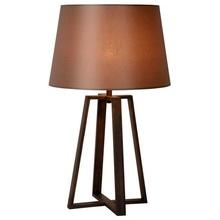 Lampa stołowa z abażurem Coffe 38 Rdzawa Lucide do sypialni, salonu i przedpokoju.
