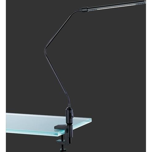 Lampa biurkowa z klipsem Vario Czarna Trio do czytania i na biurko.