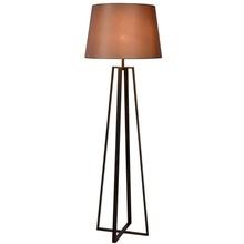 Lampa podłogowa z abażurem Coffe 55 Rdzawa Lucide do salonu i sypialni.