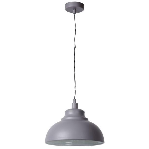 Dekoracyjna Lampa wisząca Isla 29 Szara Lucide do salonu, sypialni i poczekalni.