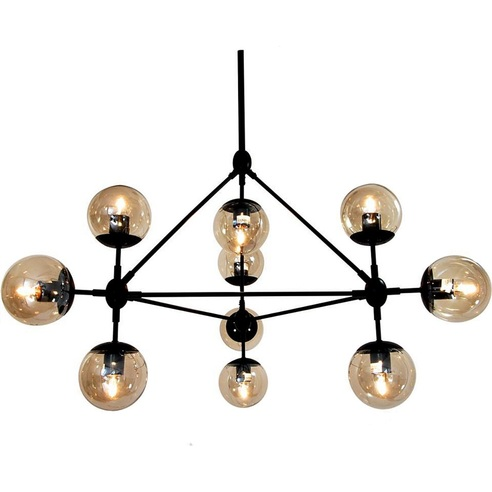 Lampa wisząca ASTRIFERO 10 czarno bursztynowa Step Into Design